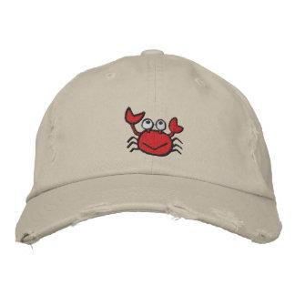 gorra feliz lindo del cangrejo gorras de béisbol bordadas