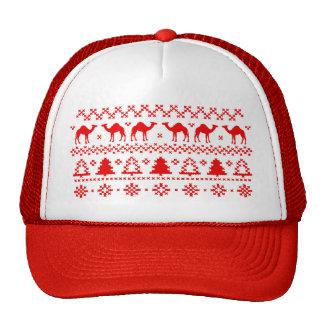 Gorra feo del suéter del navidad del camello del d