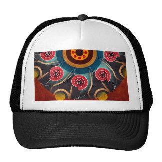 Gorra floral del arte del vector del extracto del