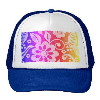 Gorra floral del chapoteo del color