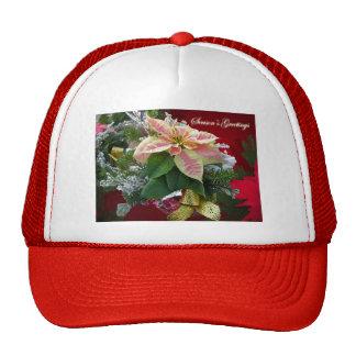 Gorra floral del Poinsettia de los saludos de la e