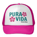 Gorra floral rosado de Pura Vida de la mujer