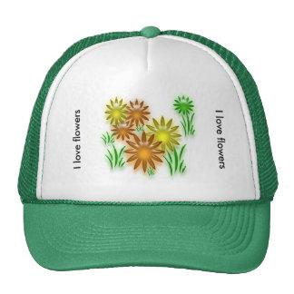 Gorra - flores de neón