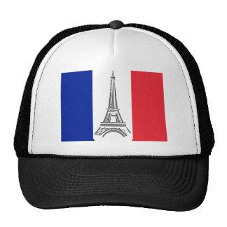 Gorra francés de la bandera de la torre Eiffel de