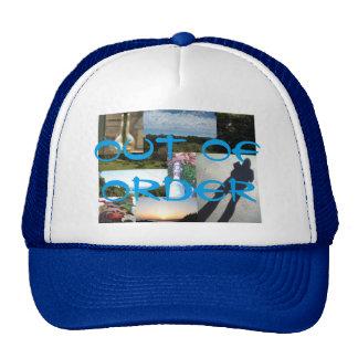 gorra fuera de servicio del camionero