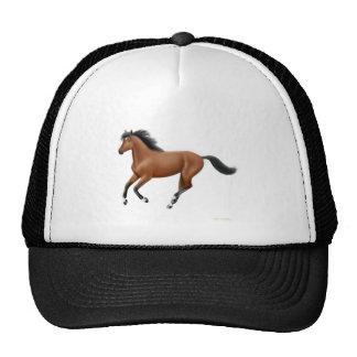 Gorra galopante del caballo de bahía