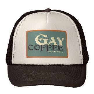 Gorra gay del camionero del café