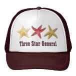 Gorra general de tres estrellas de mar de la estre