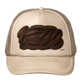 Gorra gigante de los granos de café