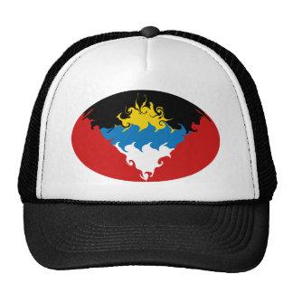 Gorra Gnarly de la bandera de Antigua y de Barbuda