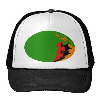 Gorra Gnarly de la bandera de Zambia