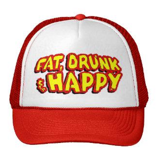 Gorra gordo, bebido y feliz