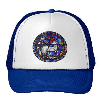 Gorra gótico del camionero de los vitrales del
