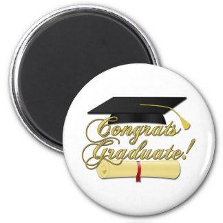 Gorra graduado del diploma y de la graduación de C Iman De Nevera