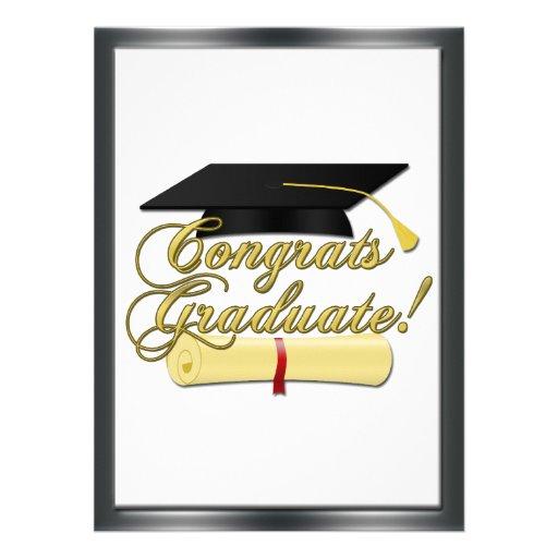 Gorra graduado del diploma y de la graduación de C Comunicado
