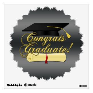 Gorra graduado del diploma y de la graduación de C Vinilo Adhesivo