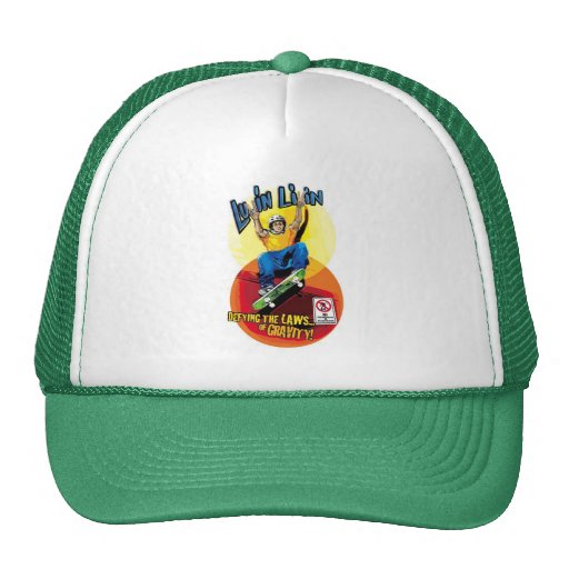 Gorra gráfico del camionero del patinador de Luvin
