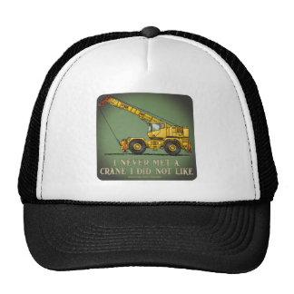 Gorra grande de la cita del operador de grúa