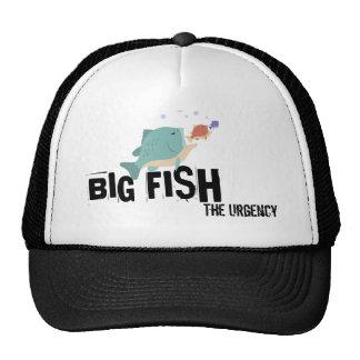 Gorra grande del camionero de los pescados