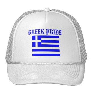 Gorra griego del orgullo con la bandera de GRECIA