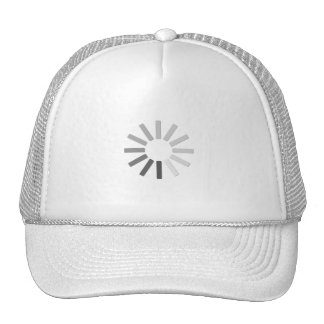 gorra gris del símbolo del cargamento del ordenado