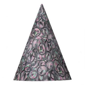 gorra gris rosado del fiesta del remolino del gorro de fiesta