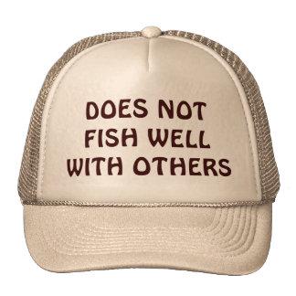 Gorra gruñón de la pesca