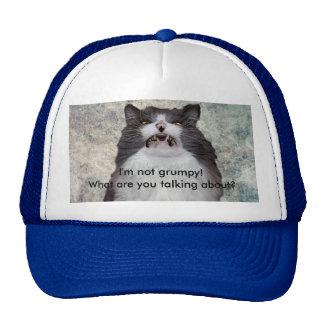 Gorra gruñón divertido del gato