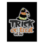 Gorra Halloween de la bruja del truco o de la invi Tarjeta Postal