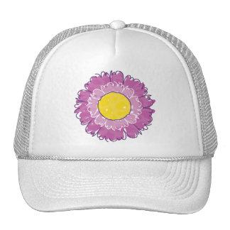 Gorra hermoso del camionero del flor - púrpura