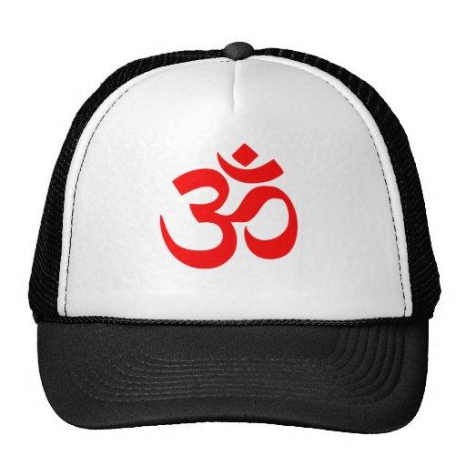 Gorra hindú del símbolo de OM