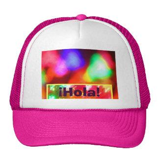 ¡Gorra - ¡Hola! - Abstracto multicolor Gorros