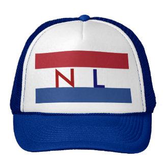 Gorra holandés NL de la bandera