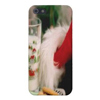 Gorra i del navidad de Santa iPhone 5 Carcasa