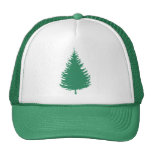 Gorra imperecedero verde del camionero del árbol