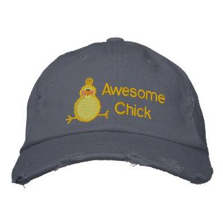 Gorra impresionante del polluelo gorras bordadas