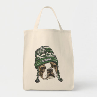 Gorra impresionante del verde de la fan de Boston Bolsa Tela Para La Compra