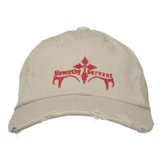 Gorra indigno del criado gorras bordadas