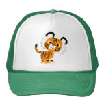 Gorra inquisitivo lindo del tigre del dibujo