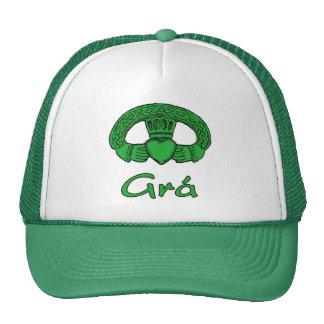 Gorra irlandés del amor del claddagh