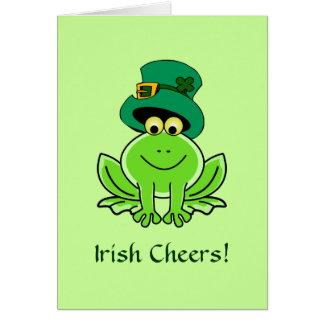 Gorra irlandés divertido del Leprechaun de la rana Tarjeta De Felicitación
