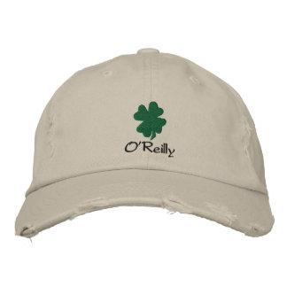 Gorra irlandés personalizado del trébol, gorra de gorras bordadas