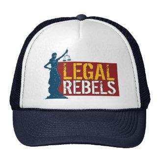 Gorra irónico del camionero de los rebeldes