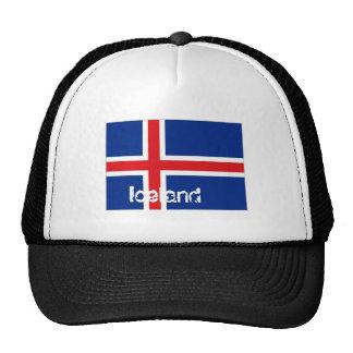 Gorra islandés del recuerdo de la bandera de Islan