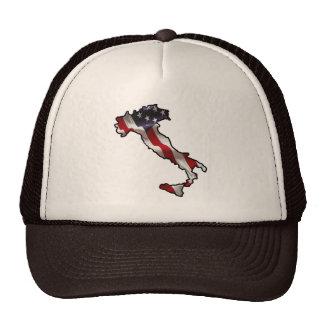 Gorra italiano de la bandera americana