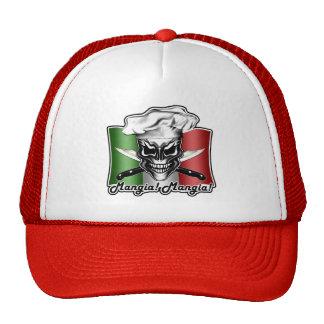 Gorra italiano del cráneo del cocinero: ¡Mangia!