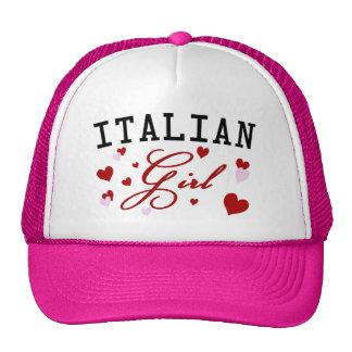 Gorra italiano del rosa del chica