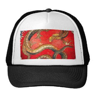 Gorra japonés del dragón del oro de Hokusai