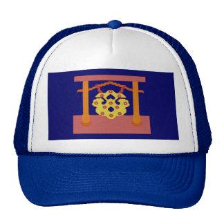 Gorra japonés del escudo del gongo