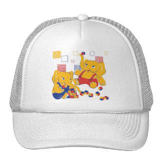 Gorra juguetón de los elefantes
